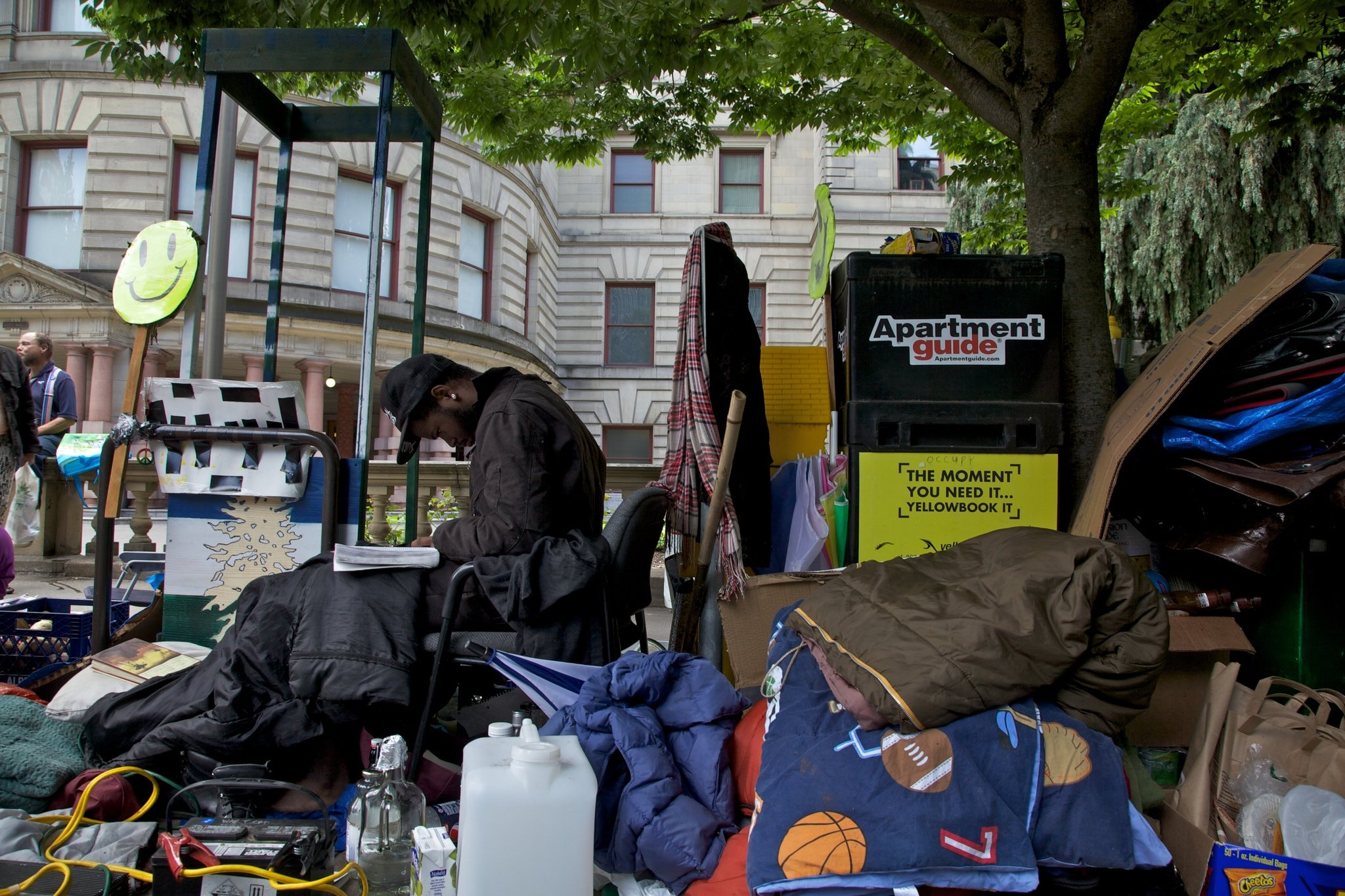 Driving Out the Homeless with Spikes, Ear Piercing Sounds, and Water Torture